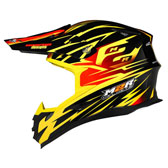 X4 HELMET - MEDIUM - SYMBOL PC-3 YELLOW/RED